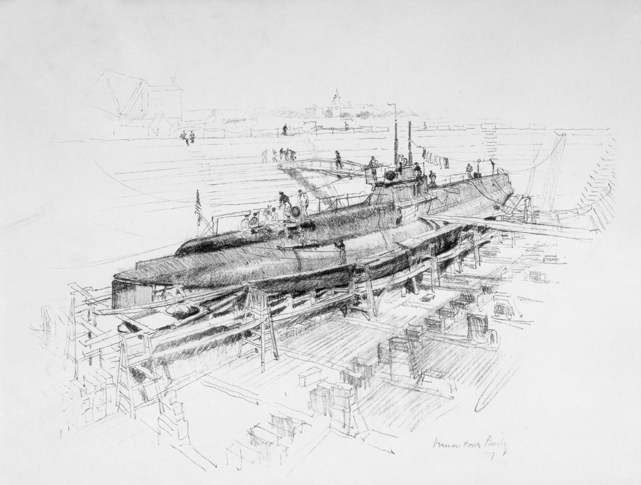 Submarine in Drydock