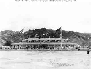 Main pavilion of entertainment facility erected by Chinese government for use during fleet's visit to Amoy, China, late October and November 1908.