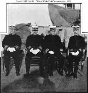 Fleet's senior commanders circa later 1908 or early 1909, during or shortly after world cruise.
