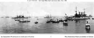 Fleet anchored at Callao, Peru, February 1908.