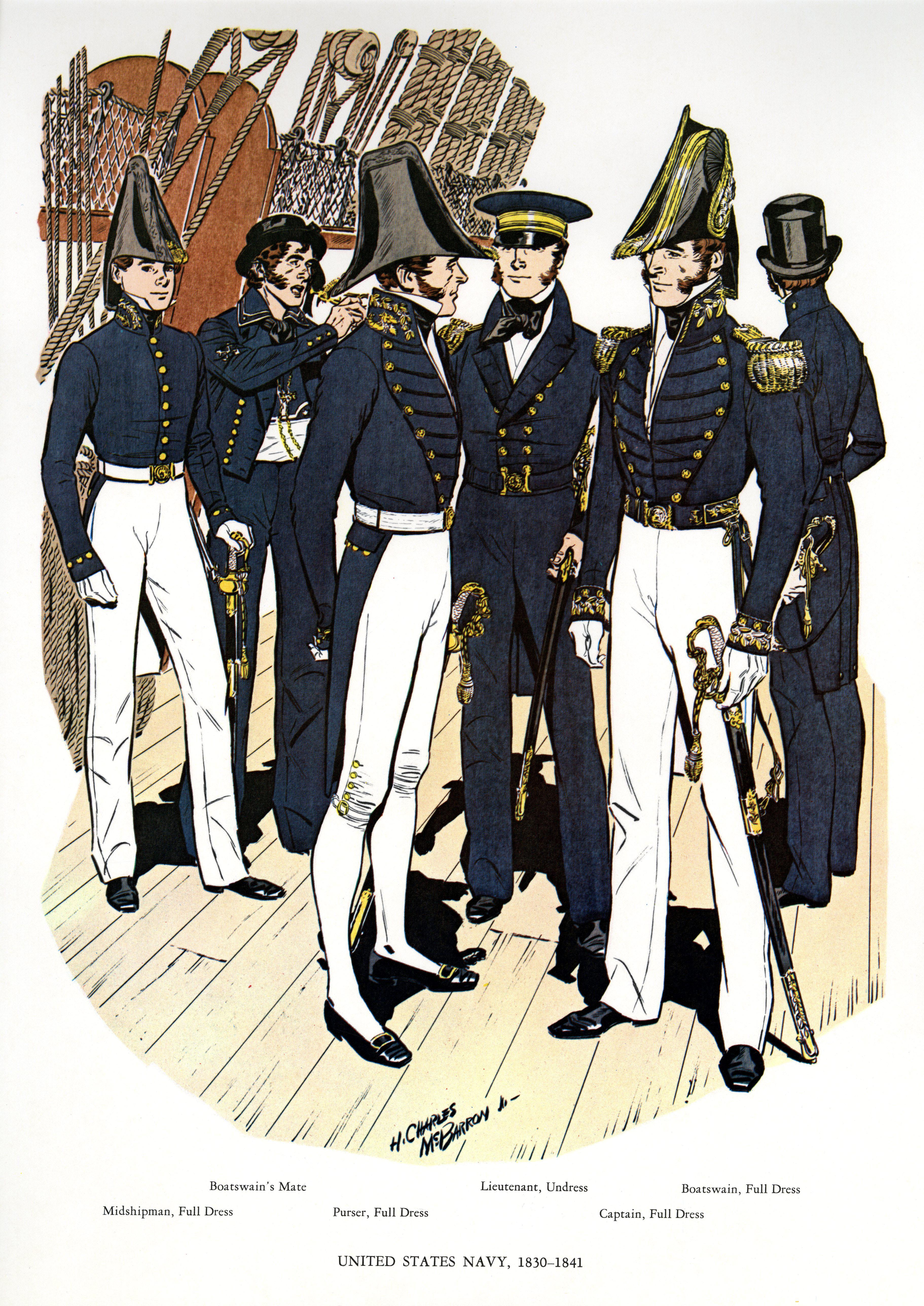 b23e6c50a Uniforms of the U.S. Navy 1830-1841