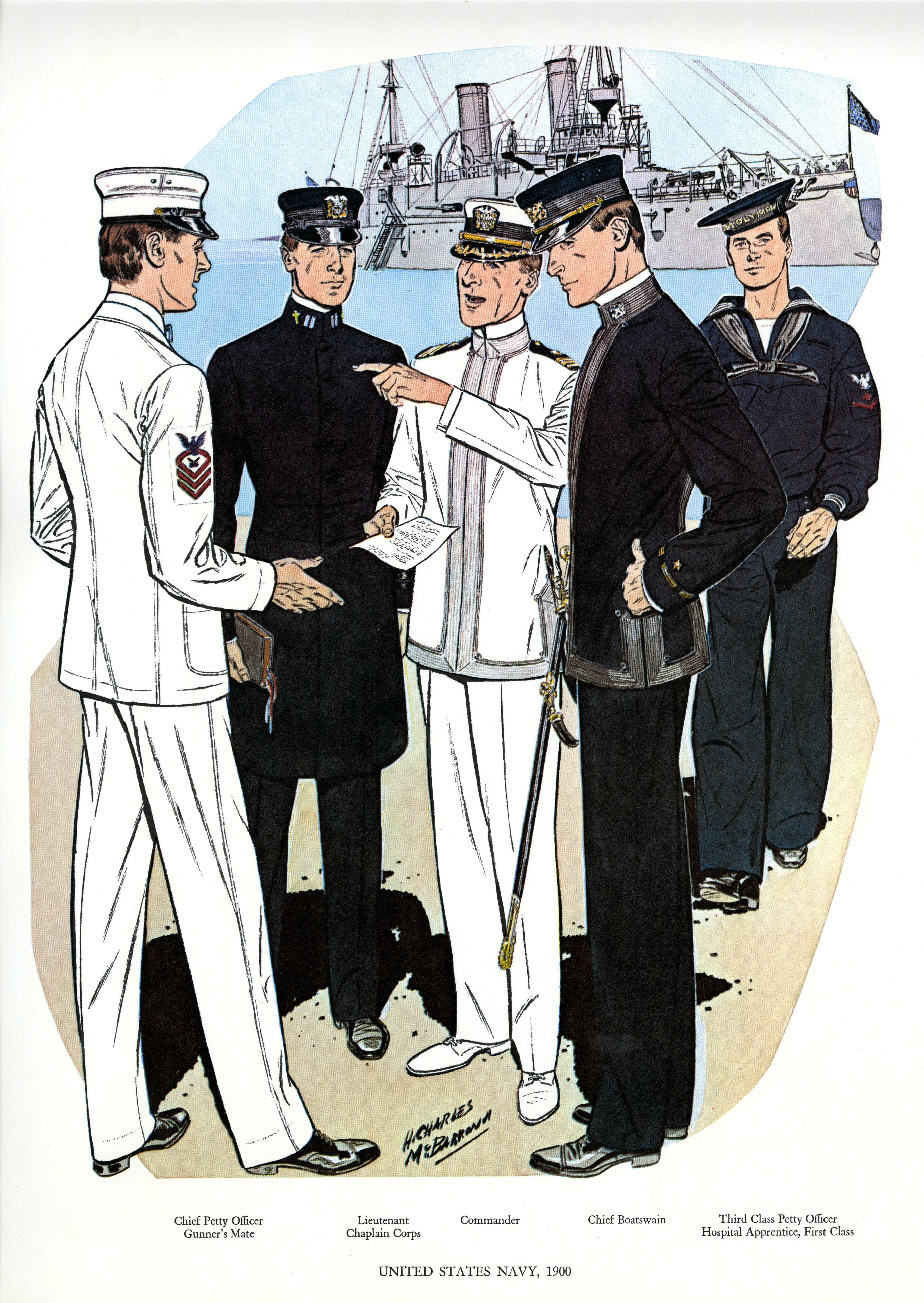 uniforms of the us navy 1900