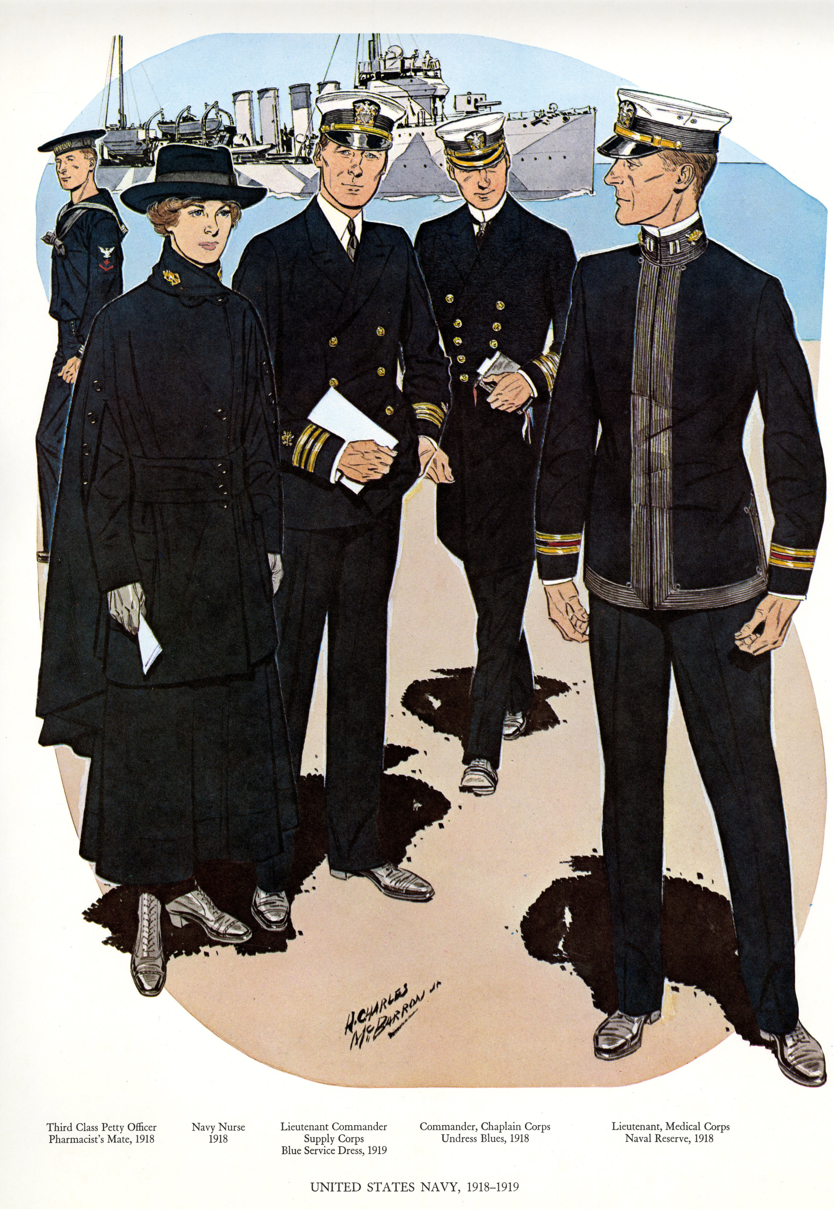 84bcd3f03c80 Uniforms of the U.S. Navy 1918-1919