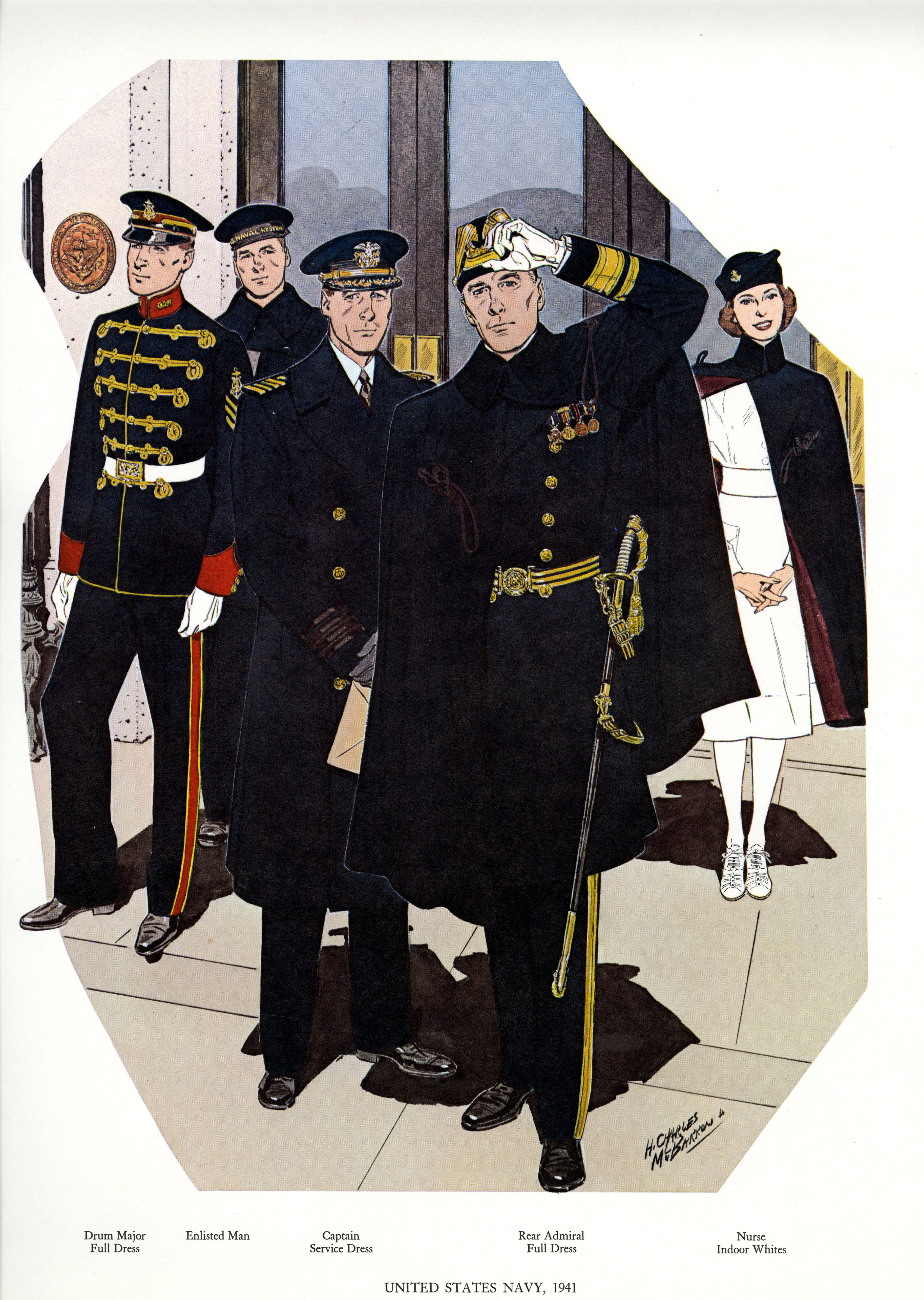 uniforms of the us navy 1941