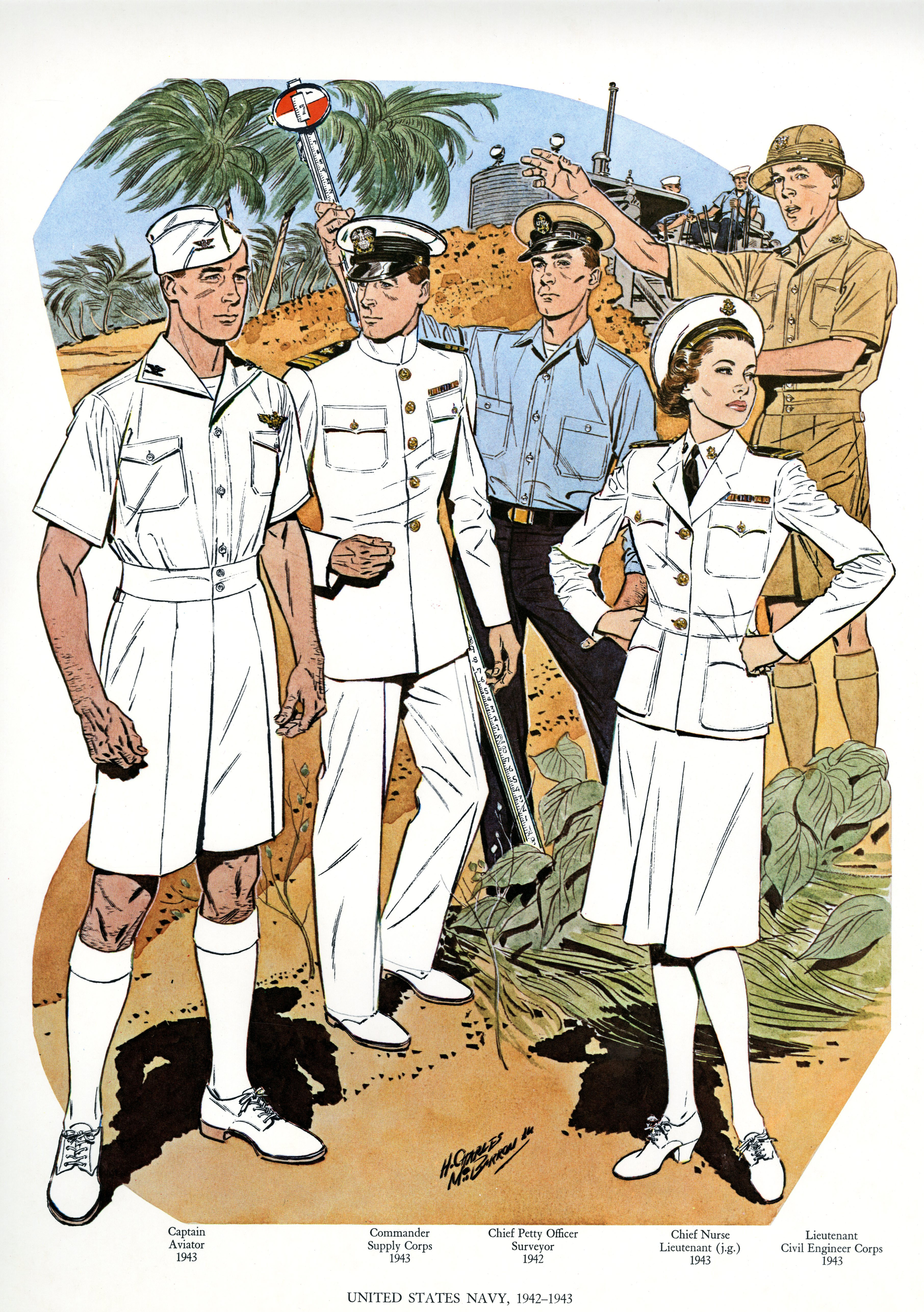 uniforms of the us navy 1942 1943