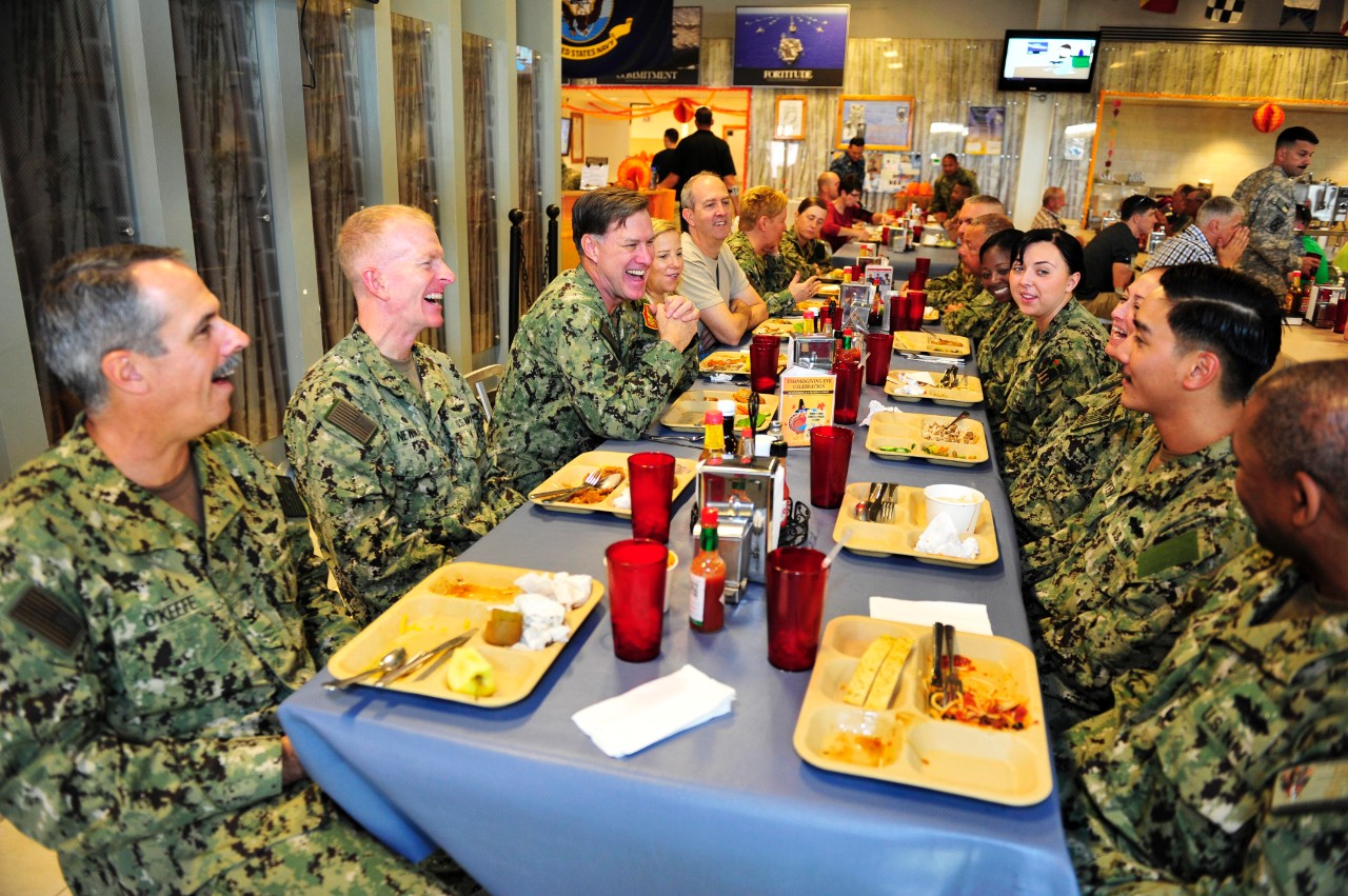 Either deployed at sea, boots on ground, or just on duty over the holiday, Sailor's always make sure not to let minor inconveniences get in the way of a great celebration.