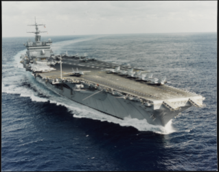 USS Enterprise (CVN-65) Underway, probably in the 1990s.  Explore more on our famous ships collections