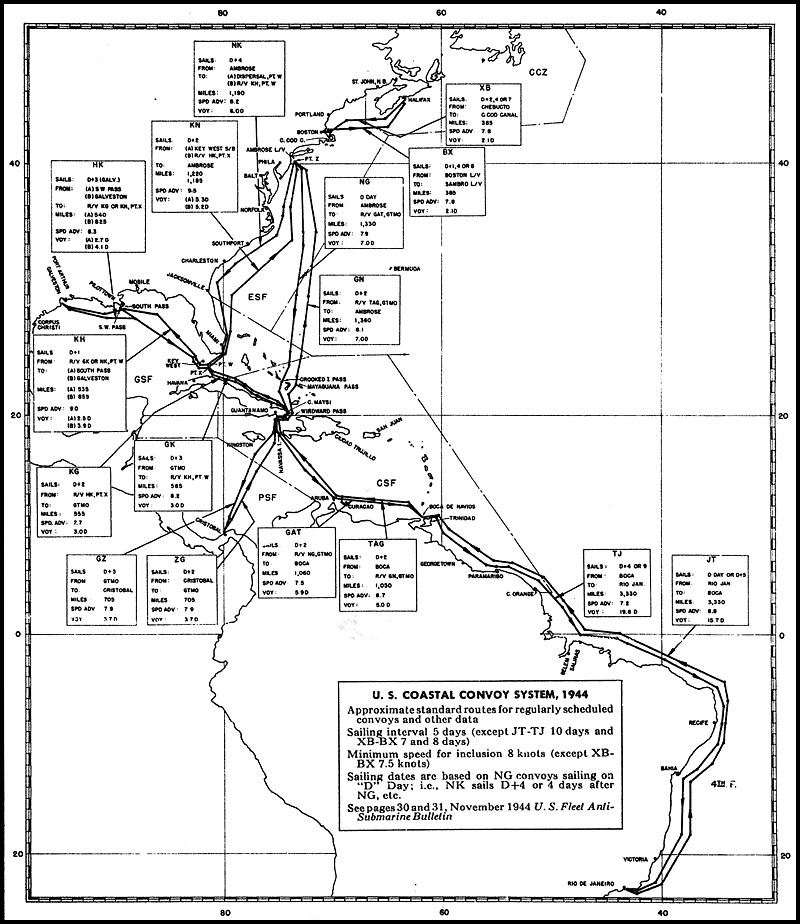 History Of Convoy And Routing 1945