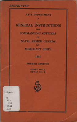 general instructions for commanding officers of naval armed guards