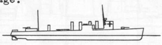 Diagram of DICKERSON (DD157) depicting damaged areas