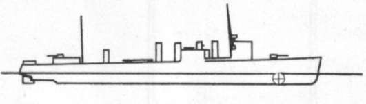 Diagram of BLAKELEY (DD150) depicting damaged areas
