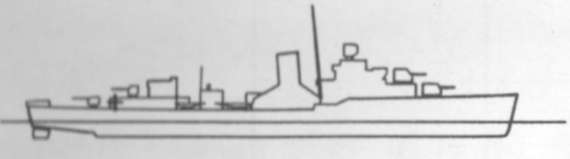 Diagram of PATTERSON (DD392) depicting damaged areas