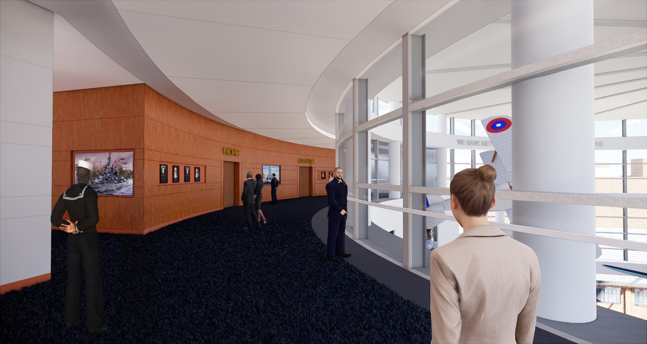 New National Museum of the U.S. Navy: Campus Vision: Bldg 118 Interior