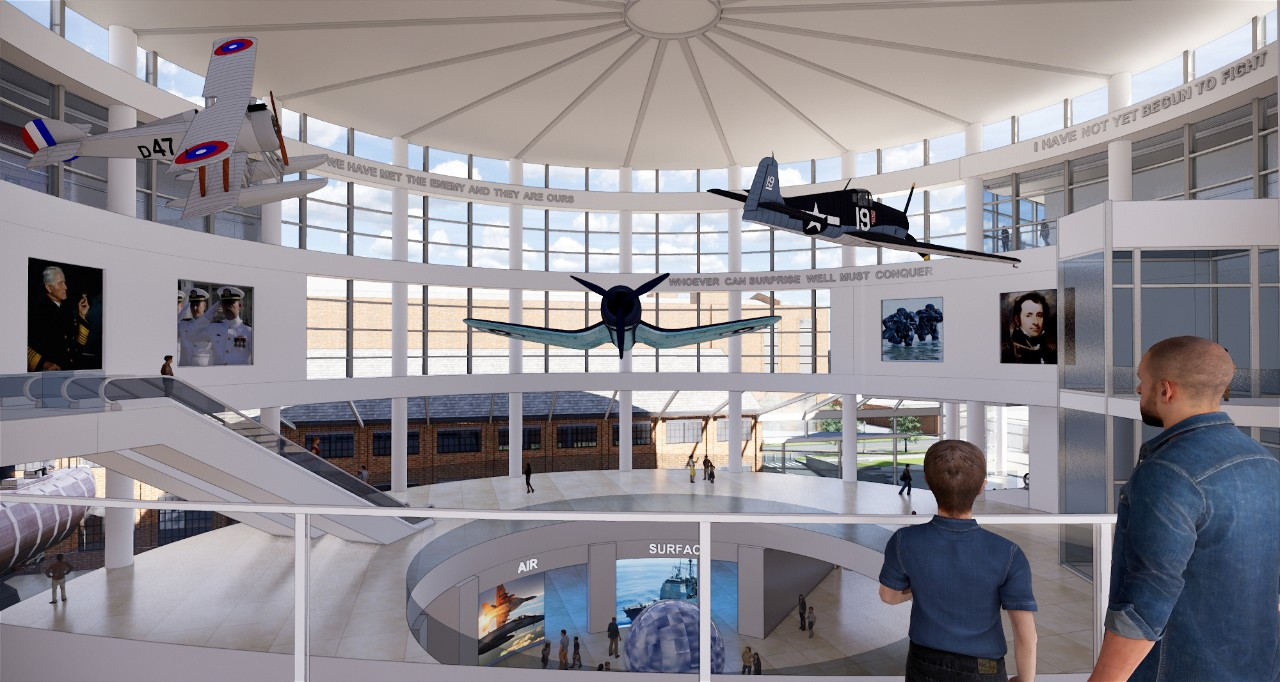 New National Museum of the U.S. Navy:  Campus Vision:  Atrium