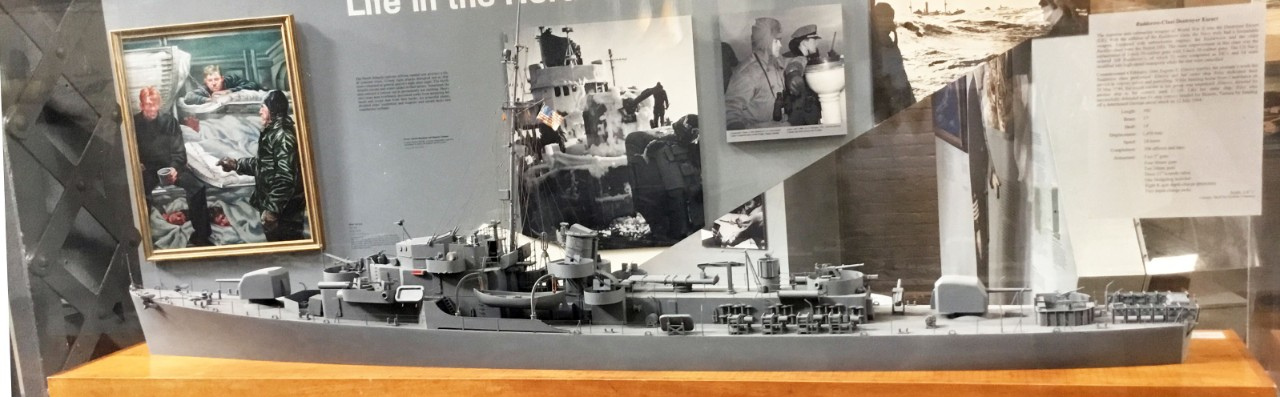 NMUSN:   	In Harm's Way:  U.S. Navy and WWII:  Atlantic:  Rudderlow-class destroyer