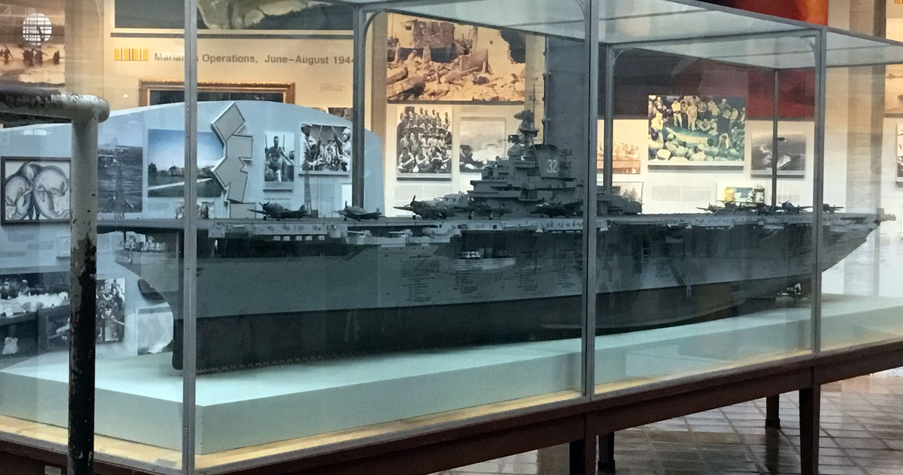 NMUSN:	In Harm's Way:  U.S. Navy and WWII:  Pacific:   USS Leyte (CV-32)