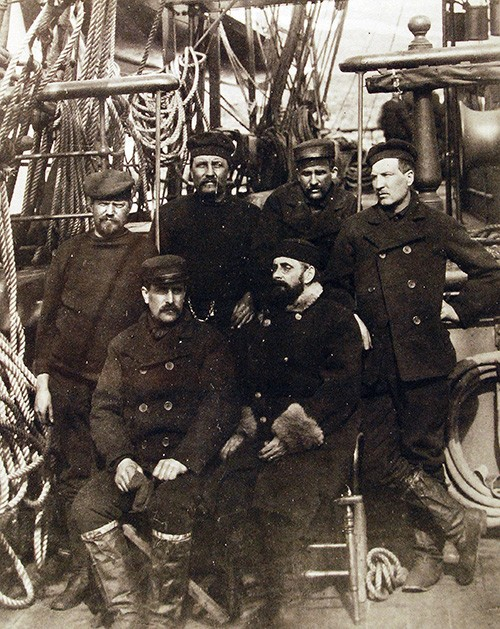111-SC-96236:  Greely Relief Expedition.   Survivors of the Greely Expedition are shown on board USS Thetis, at Cape Sabine on 4-8 July 1884.