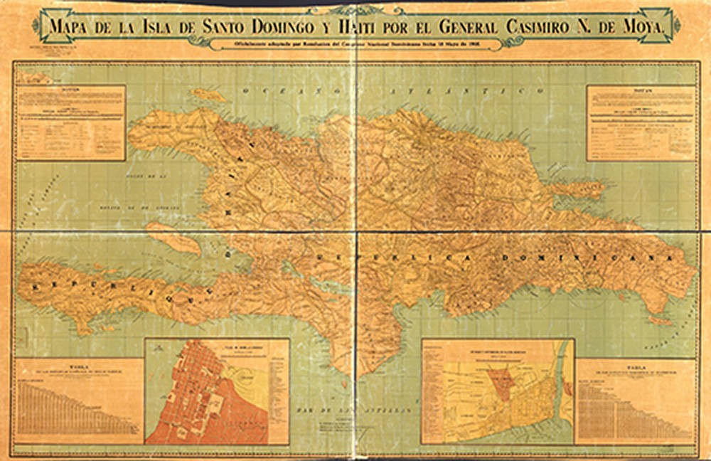 G44930 1905.M6:   Map of Dominican Republic and Haiti, by Casimiro N. Moya, 1906.  Courtesy of the Geography and Maps Division.  Library of Congress.