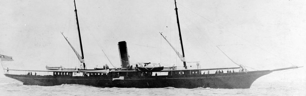 NH 55390:  Steam yacht Corsair III prior to World War I service.  NHHC Photograph Collection.