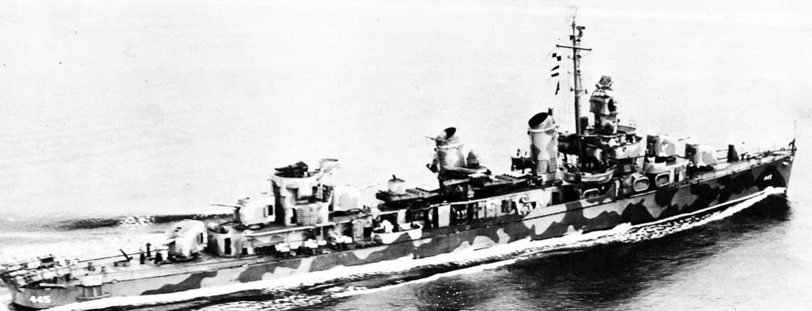 USS Fletcher (DD-445, later DDE-445)