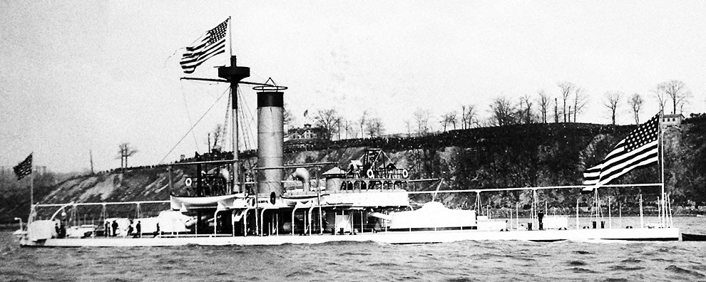 Lot-3370-24:  USS Miantonomoh, 1893.  Photographed by J.S. Johnston.  Courtesy of the Library of Congress.