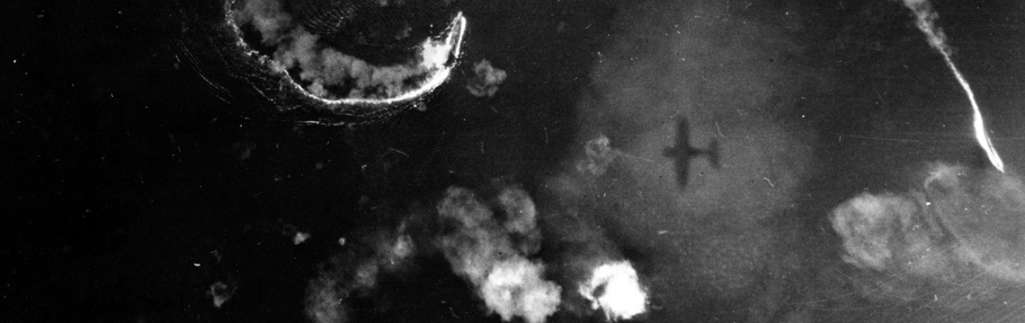 Image:  80-G-46986:  Battle of the Sibuyan Sea, October 24, 1944.  Japanese battleship Yamato (lower center), with other ships, maneuver while under attack by U.S. Navy carrier-based planes.    U.S. Naval History and Heritage Command Photograph.
