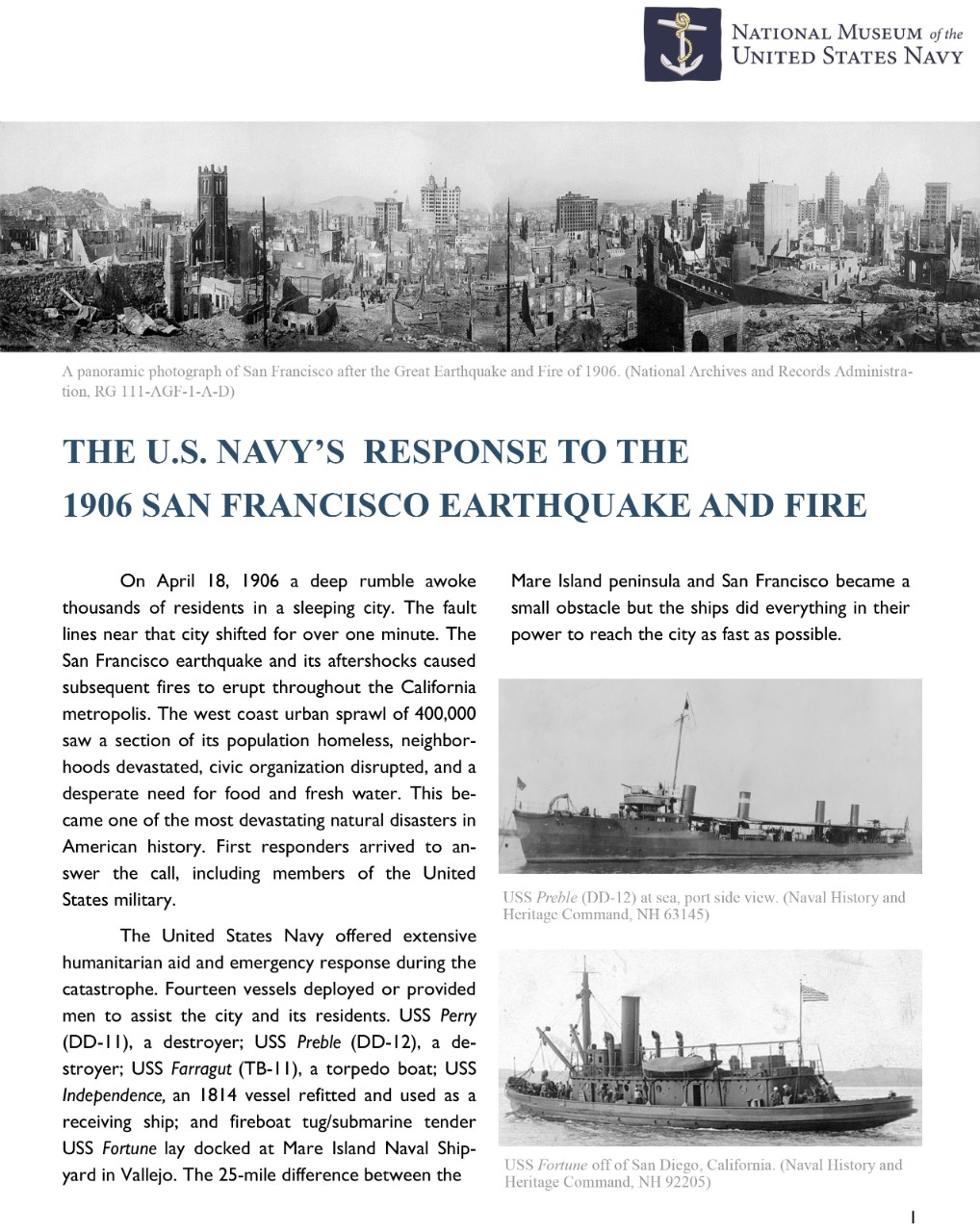 <p>NMUSN_United States Navy_Response to the 1906 San Francisco Earthquake</p>