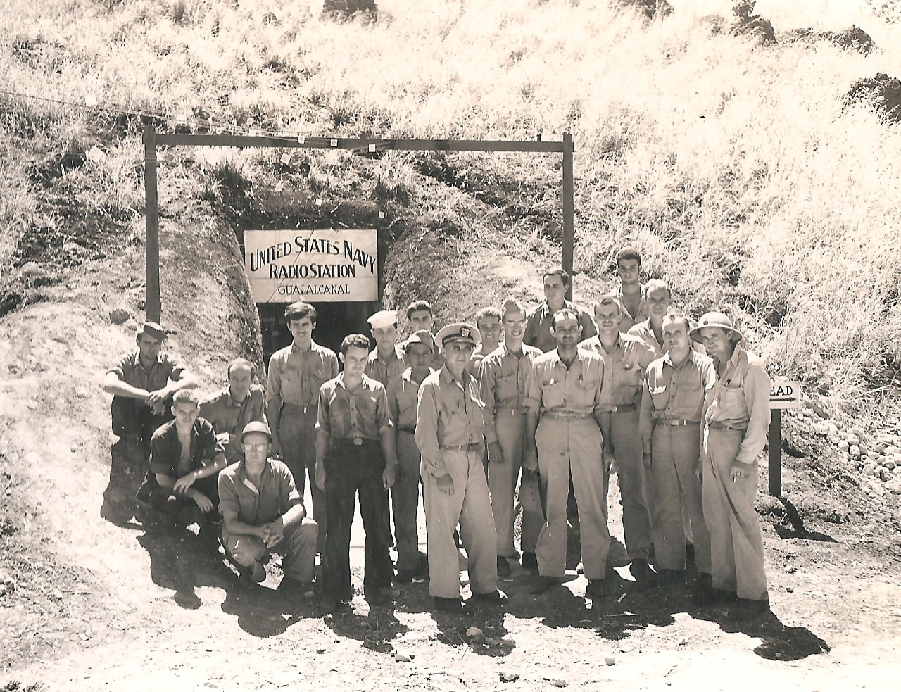 US Navy Radio Station Guadalcanal built and run by the 6th Naval Construction Battalion, 7 December 1942.