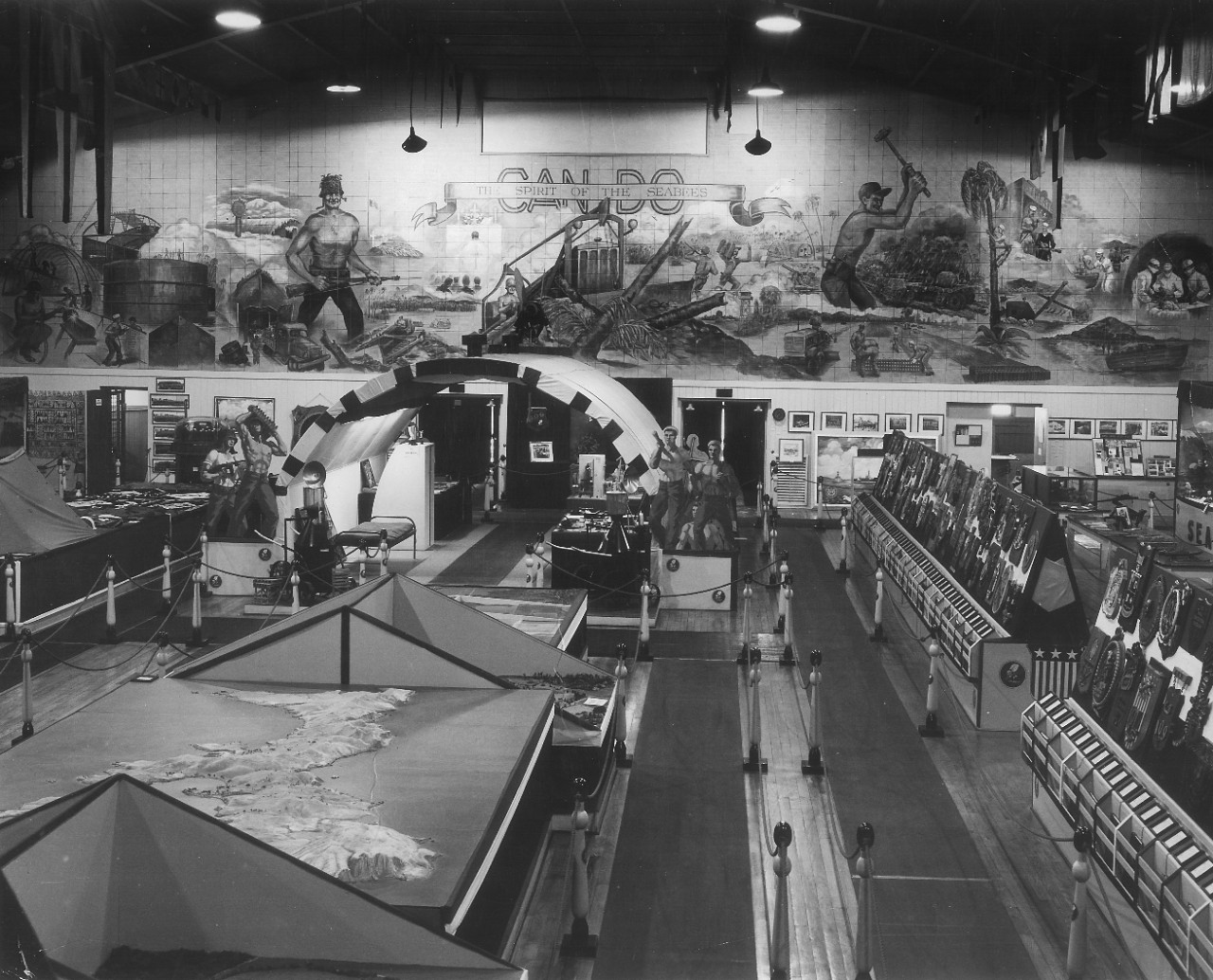 original museum exhibits 1950