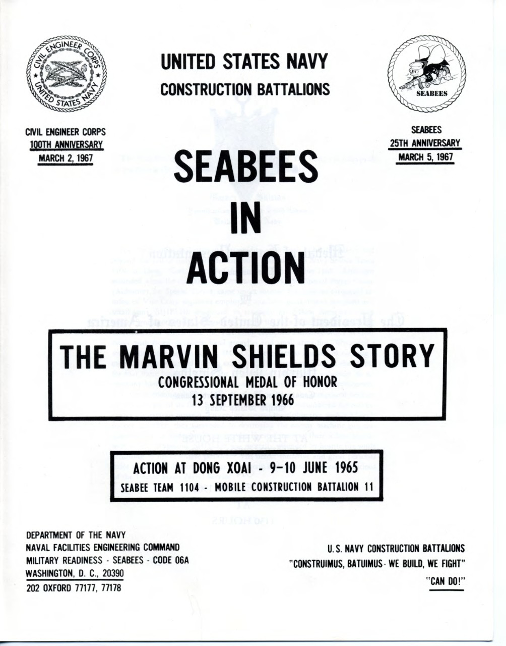 Seabees in Action Marvin Shields image
