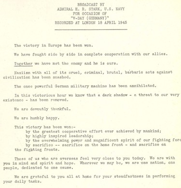Interested in the Navy's operational history? Learn about our Archives' holdings of records and personal papers.