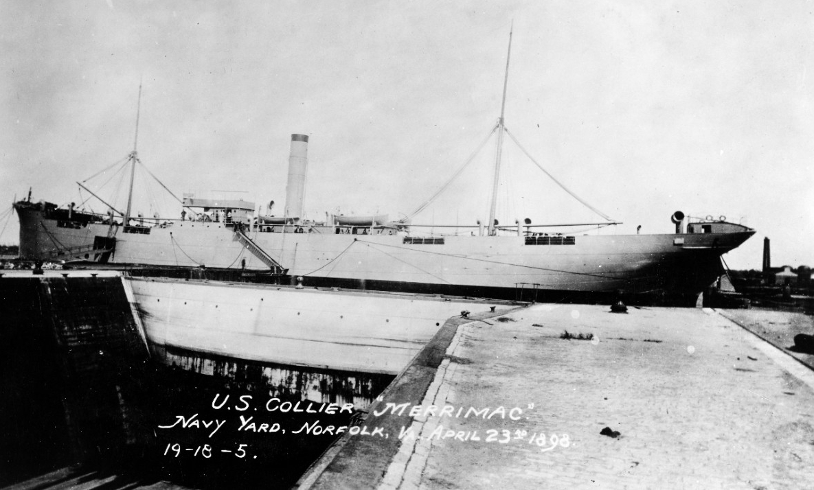 Photo #: NH 809  USS Merrimac (1898)