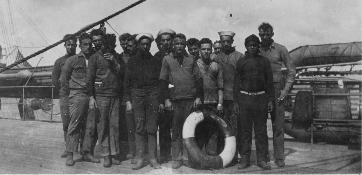 Survivors of the RICHARD BULKELEY. Minesweeping operations in the North Sea