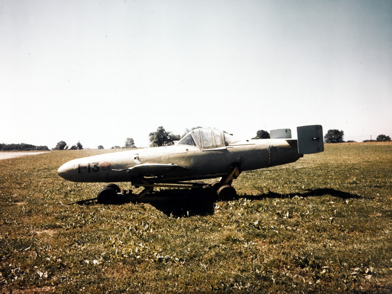 <p>80-G-K-5885 Japanese YOKOSUKA MXY7 OHKA (&quot;BAKA&quot;) captured intact by Marines on Okinawa, 26 June 1945</p>