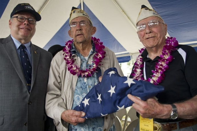 Director Cox with Pearl Harbor Survivors