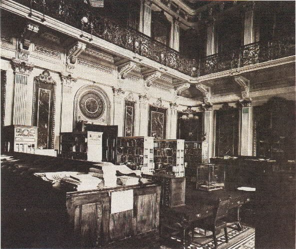 Navy Department Library Reading Room (Indian Treaty Room) in the State, War, and Navy Building, 1915.