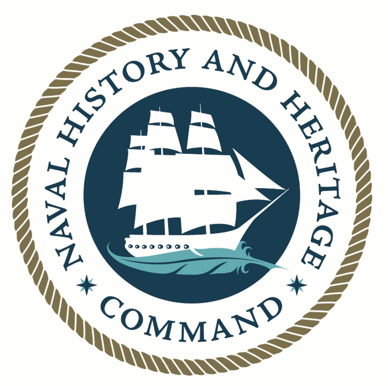 The official Naval History and Heritage Command logo.