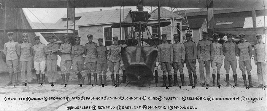 Photo #: NH 90230  Officers at the Naval Aeronautic Station, Pensacola, Florida, circa July-November 1915