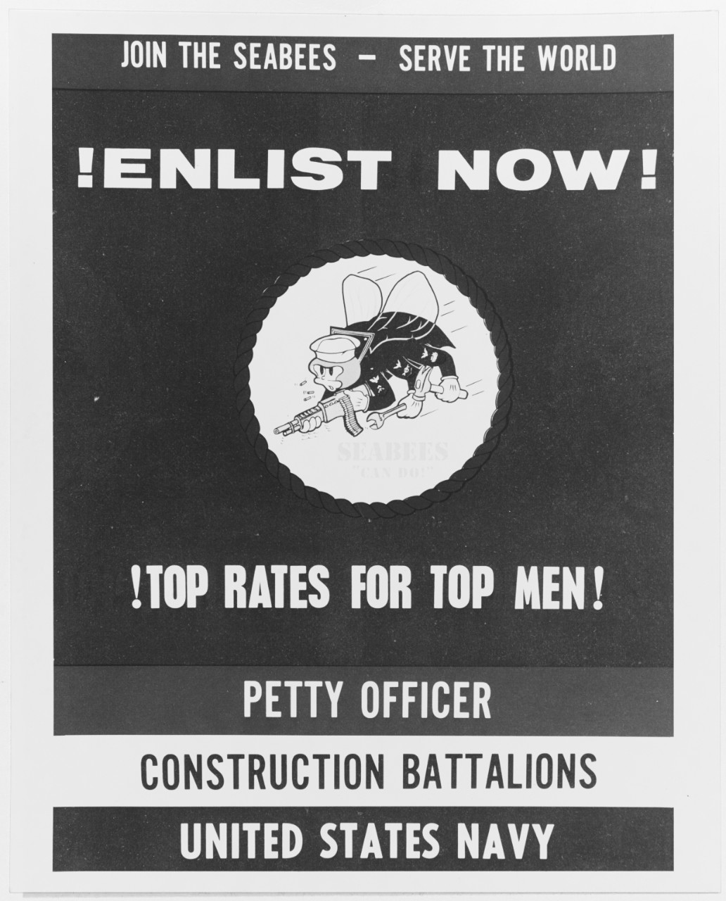 Recruiting poster:  Seabees