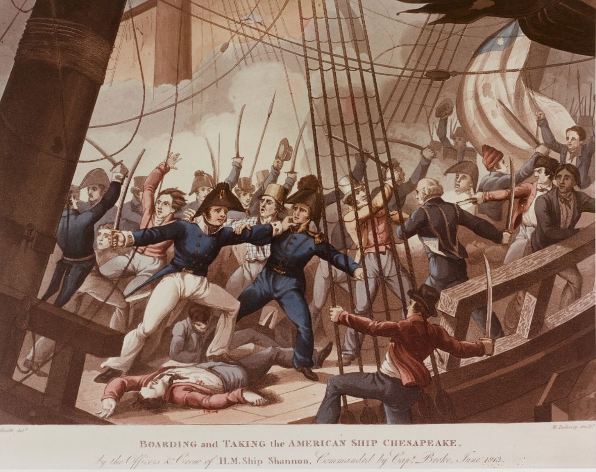 Photo #: NH 65811-KN Engagement between USS Chesapeake and HMS Shannon, 1 June 1813