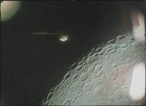 Unidentified Flying Object (UFO) captured by astronauts from Apollo 16