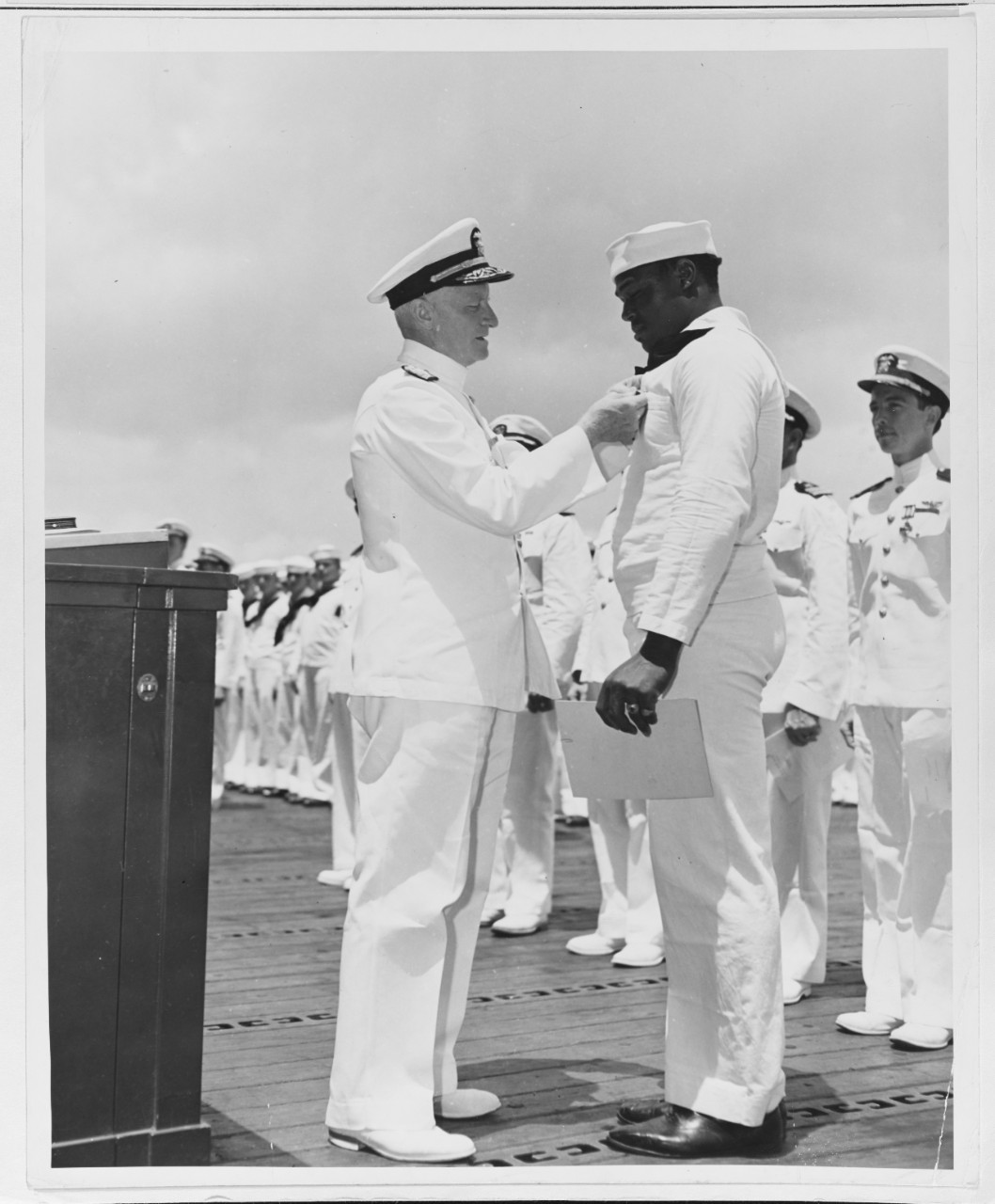 Admiral Nimitz Awards the Navy Cross to SC2c Doris Miller