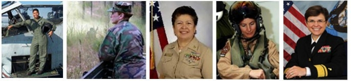 Capt. Armour, USMC; Capt. Sisson; Master Chief Colon; Cmdr. Joyner; Rear Adm. Kibben