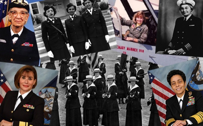 montage of women serving in the Navy
