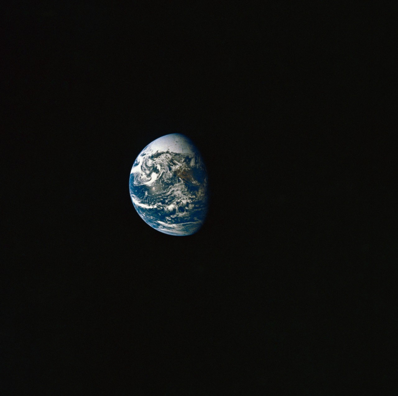 View of Earth taken from Apollo 10. National Archives Photo 16682432