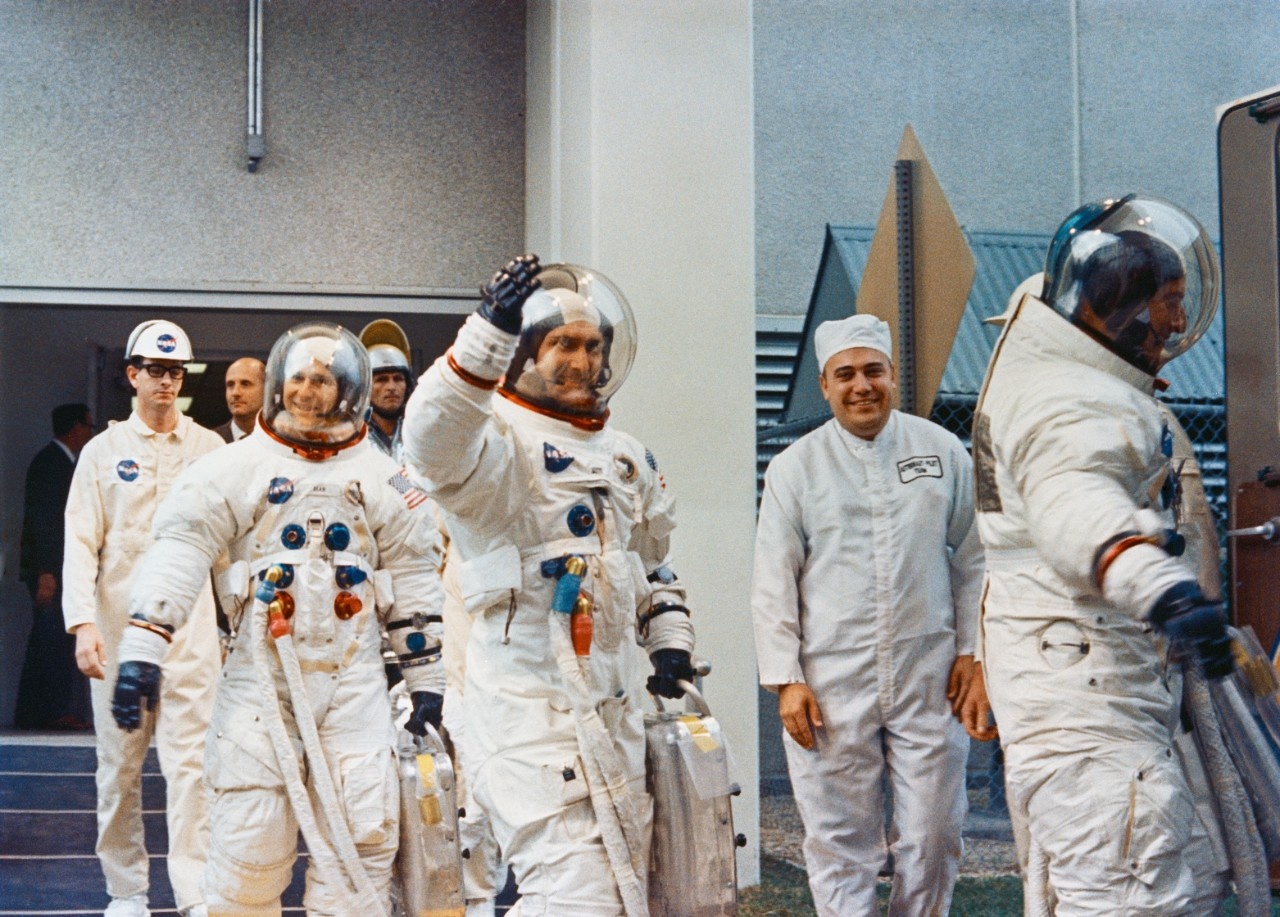 The Apollo 12 Crew During Prelaunch Countdown