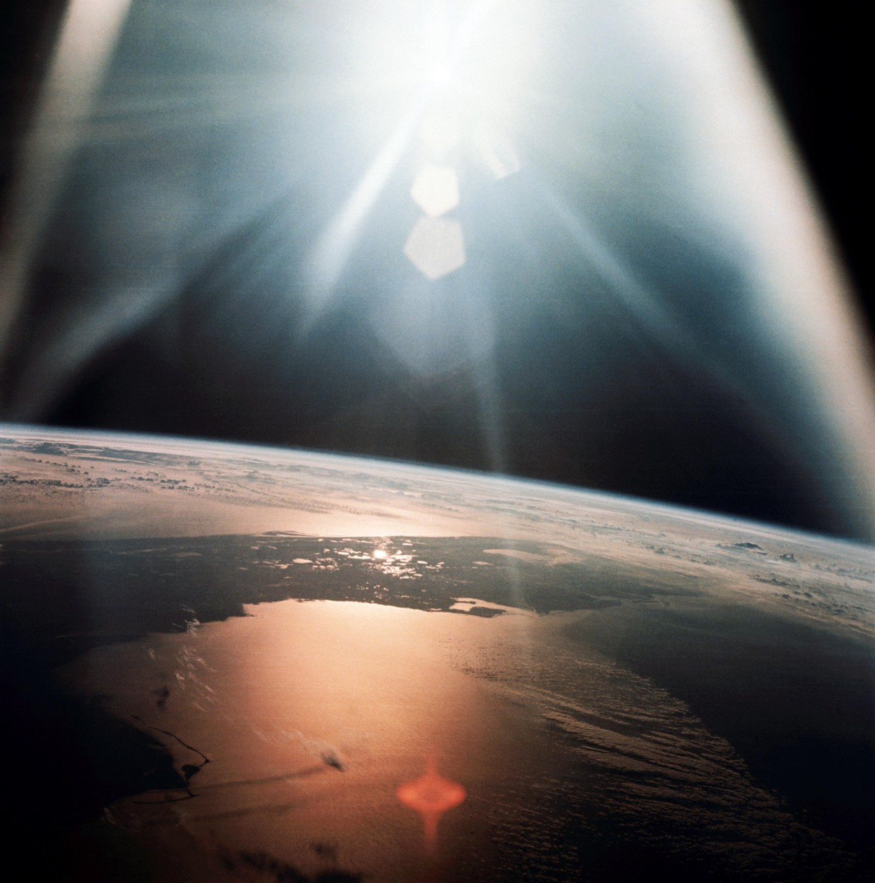 Morning Sun Seen from Apollo 7 Spacecraft