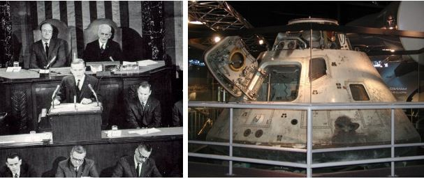 Apollo 8 Commander addresses Congress, Apollo 8 Command Module at Chicago Museum