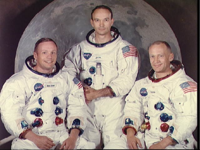 <p>Portrait of Apollo 11 crew</p>