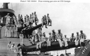 NH 106064: Prize-winning gun crew on USS Georgia.